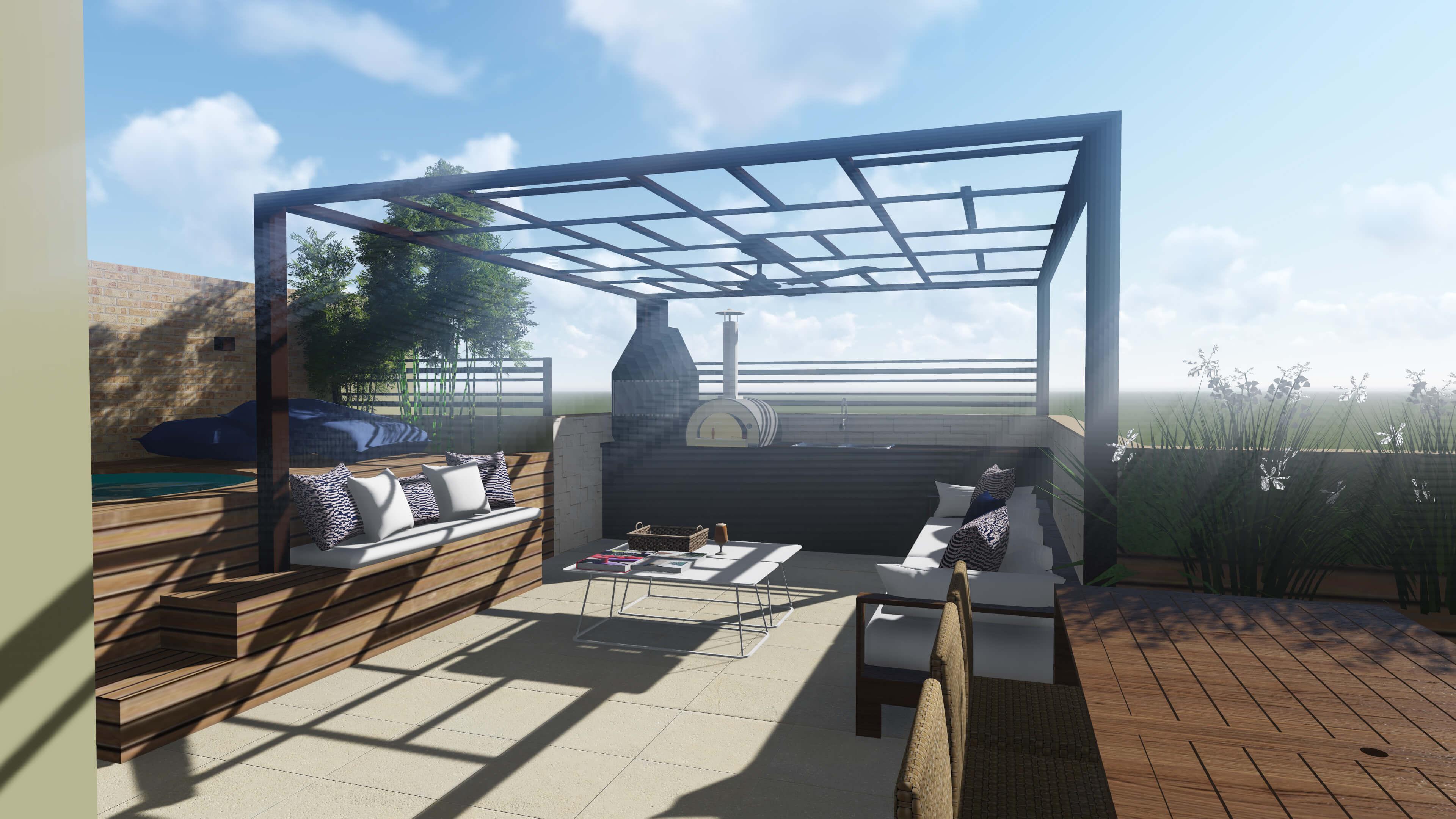 Cobertura sublime max domingos de arquitetura for Cobertura piscina
