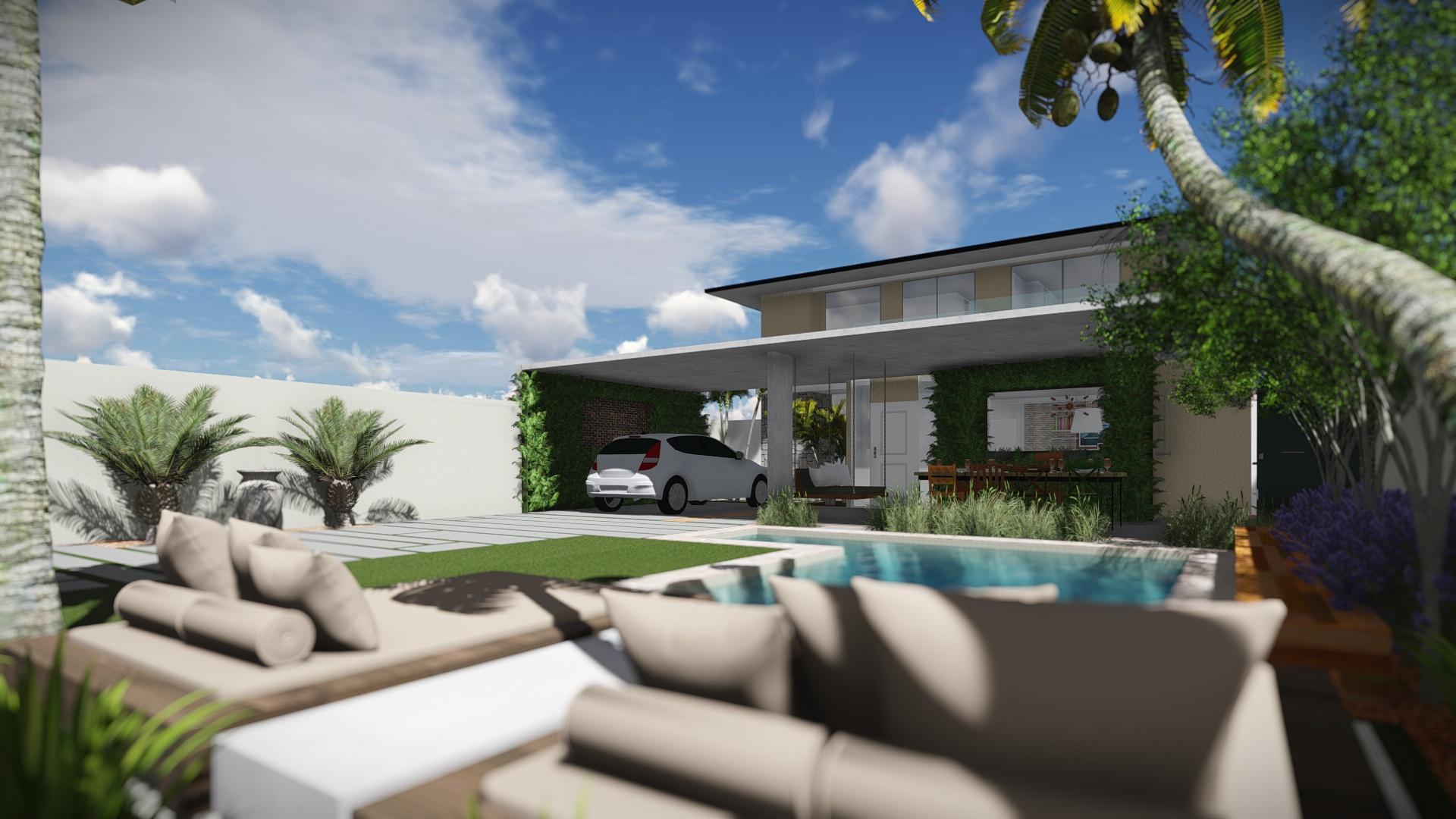 Casa moderna domingos de arquitetura for Casa moderna 7x15