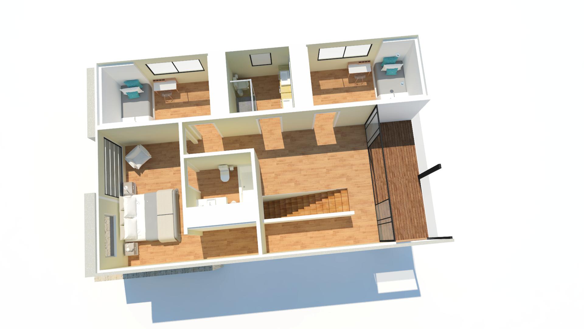 casa container projeto arquitetonico planta baixa