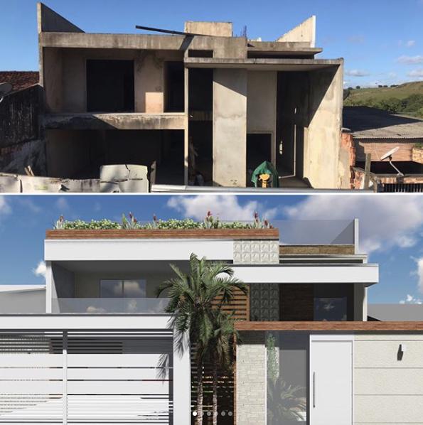 reforma de fachada de casa