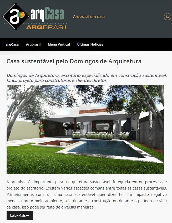 imprensa arquiteto arquitetura sustentavel