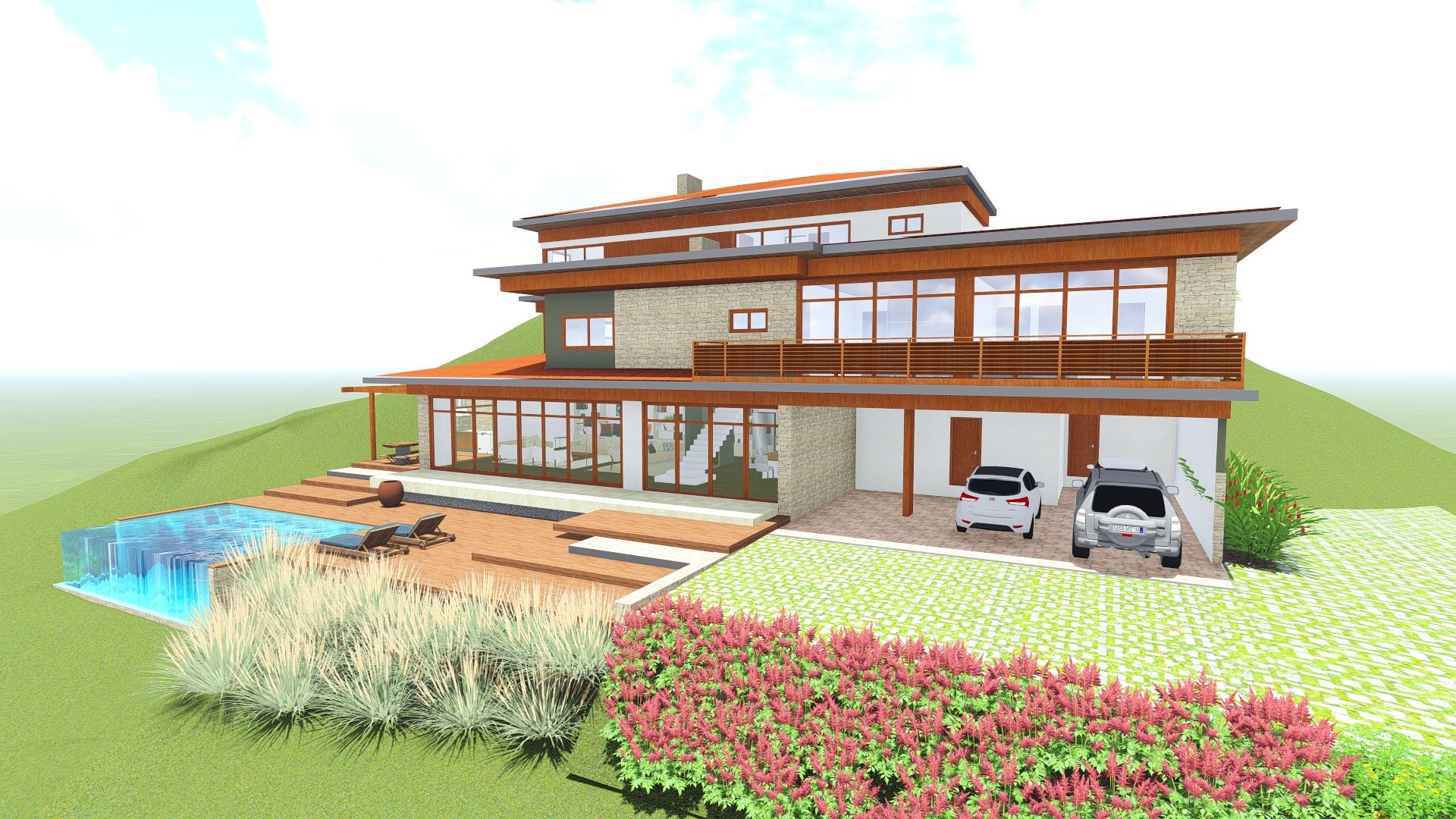 Projeto de casa na serra